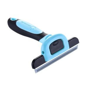 Grooming tool with a handle to be used on your dog.