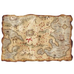 Pirate Treasure Map great item to get as a gift
