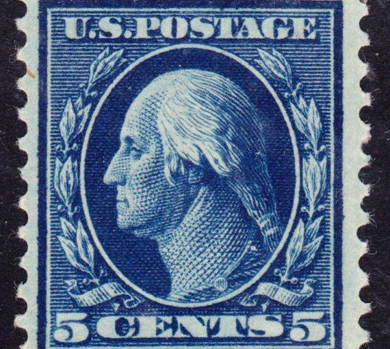 Washington-Franklin Issue of 1917 Stamp Postage