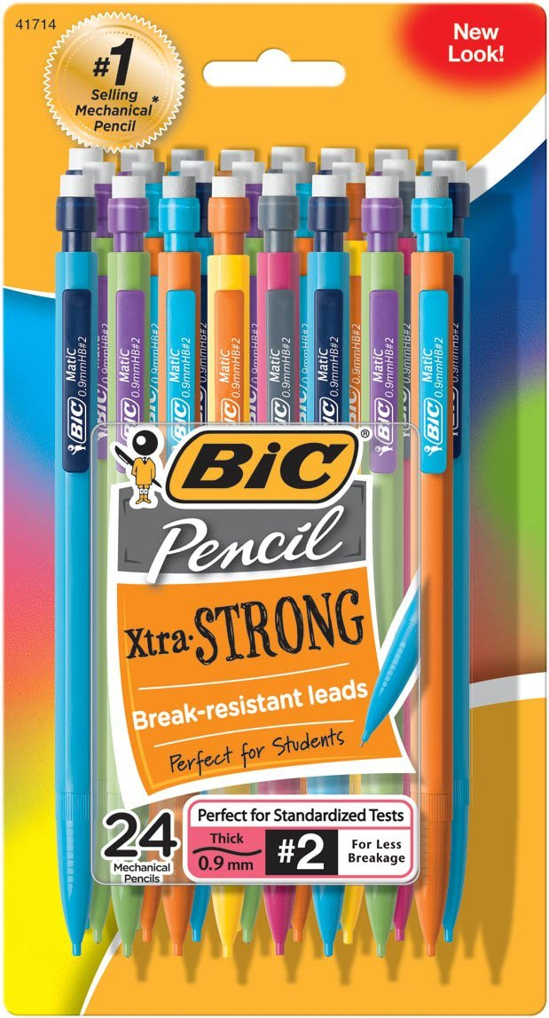 Back to school pencils. BIC mechanical pencils in a 24 pack. Full of color