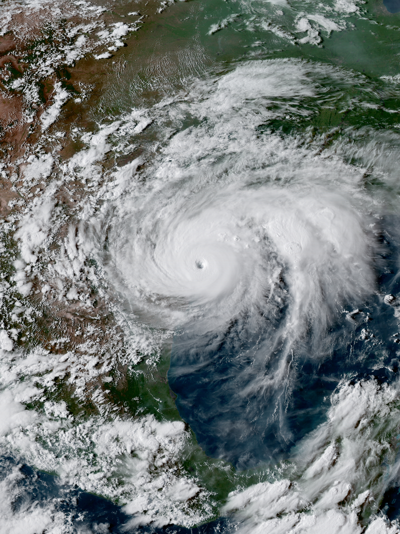 Hurricane Harvey over texas