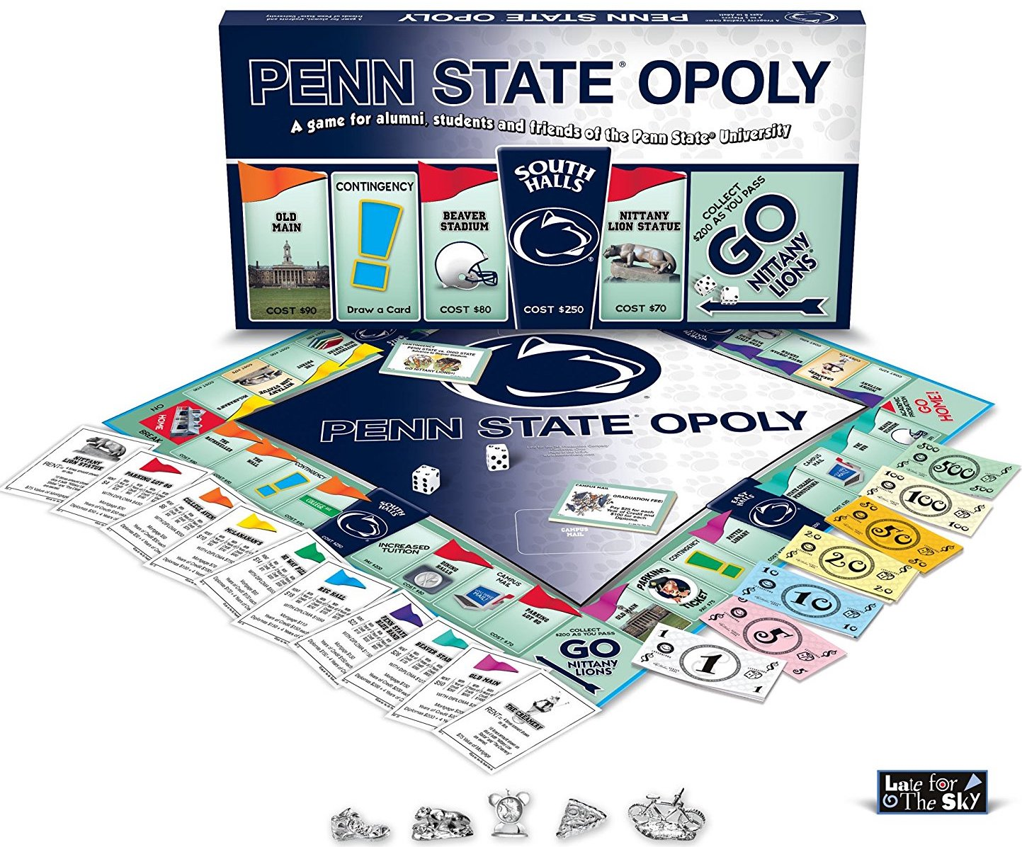 Board Game with a Penn State Theme. Penn Stateopoly
